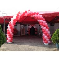 Balloon Arch RedMixPink