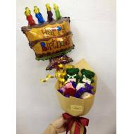 5Stalks Roses Mix Colour Wi...