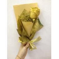 Gold Colour Roses With Baby...