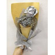 Silver Colour Roses With Ba...