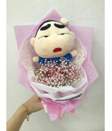 Shin Chan With Baby Breath